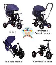 5 in1 Kids Trike Boys Girls Push Along Tricycle Children Baby 3 Wheel Toddler UK