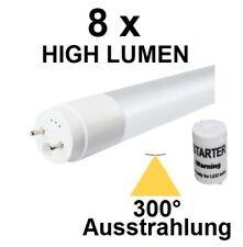 8 x 60 cm LED-Röhre T8 / G13 - 8 Watt, 1100 Lumen, Kaltweiß, 300° Ausstrahlung