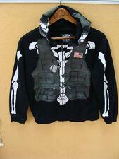 Extreme Fighter Skeleton Full Zip Hoodie Jacket Costume Boys Size L Large