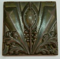 "Motawi Tileworks ARCHER 6"" x  6"" Arts & Crafts, Art Deco, Louis Sullivan"