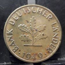 CIRCULATED 1949D 10 PFENNIG GERMAN COIN(10519)R1.....FREE DOMESTIC SHIPPING!!!!!