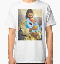Jesus Loves Rainbow Dash Men Black Tshirt Size S-2Xl
