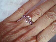 Mawi Kunzite Ring, 2.94 carats, taille N/O, en 2.73 G de argent sterling 925