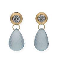 Castellano Jewels Pendientes oro 18 k Mujer Agua Marina y Circonitas