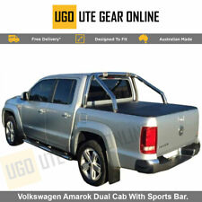 Clip On Ute Tonneau Cover to fit Volkswagen Amarok Dual Cab With Sports Bar.