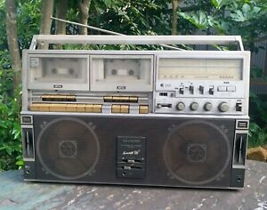 Vintage Sharp GF 818ST Searcher- W Boombox Japan Not Tested For Parts or Repair