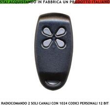 RADIOCOMANDO 2 CANALI APRIPORTA AUTOMATISMO ALLARME 1024 CODICI PERSONALI 12 BIT