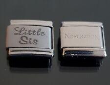 Little Sis Italian Charm Link + 1 Nomination Bracelet Charms Link Charm