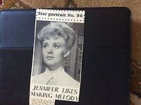 c3-2 ephemera 1962 actress jennifer daniel kiss of the vampire