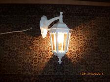 """schöne Wandlampe, Aussenlampe aus Metall in der Farbe Weiss """"Echtglas"""" ca. 45 cm"""
