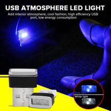 5Pcs Mini USB LED Light Blue Lamp For Car Atmosphere Lamp Bright Flexible XVR