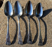 Antique 1800s Charleston SC Coin Silver Dinner Spoons by Matthew Miller 8.5""