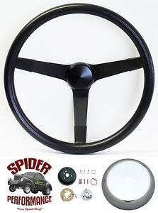 """1960-1973 Volkswagen steering wheel 14 3/4"""" VINTAGE BLACK"""