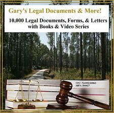 Gary's 10,000 Legal Documents, Letters, Forms, Templates, More PC-DVD Universal
