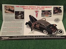 "Danbury Mint ""1941 Chevrolet Special Deluxe Cpe!""  Brochure!"