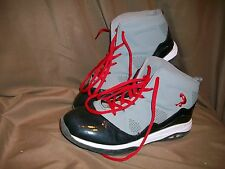 *USED* *WORN* SHAQ MENS SIZE 4.5 BASKETBALL SHOES GREY BLACK RED