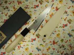 Ashi Hamono Ginga White Steel Wa-Honesuki Japanese Knife 150mm with Saya