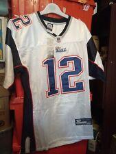New England Patriots White NFL Shirt Jersey #12 Tom Brady Size 48 Medium