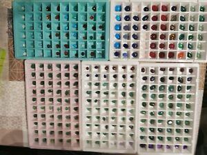 Edelstein Mineralien Sammlung Auflösung Konvolut Paket mit 20 einzelnen Steine