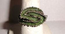 Vintage Sterling Silver modernist Scandinavian 925s signed enamel ring size 6