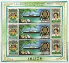 Timbres Blasons Bateaux Famille royale Belize F740/2 ** lot 21173