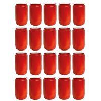 20 Stück Grabkerzen Öllichter T3 Rot| Friedhofskerze Premium Grableuchte
