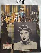 THE STORY OF JOAN OF ARC,SOUVENIR FILM BOOKLET,INGRID BERGMAN,AUSTRALIAN VARIANT