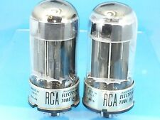 Rca 6080 Vacuum Tube Large D Getter Black Plate Matched Pair 1959 R04