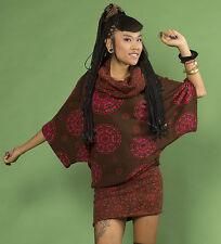 Da Donna Hippy Retrò Pullover made in Nepal fatto a mano Abito Pullover Casual