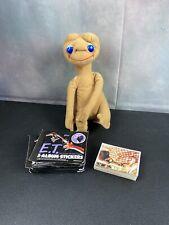 "Vintage Kamar Showtime 1982 8"" E.T Extra Terrestrial Plush Doll & Album Stickers"