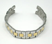"Lucien Piccard 18MM Stainless Steel Watch Strap 7"" SILVER and GOLD Fits Odessa"