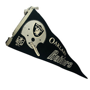Oakland Raiders Football VINTAGE 1967 Single Bar Logo NFL Full Felt Pennant