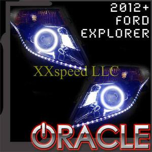 ORACLE Ford Explorer 12-15 WHITE LED Headlight + LED Strip Halo Angel Eyes Kit