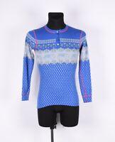 Moods of Norway 1/4 Knöpfe Merino Wolle Damen Pullover Größe M