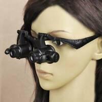 10X 15X 20X 25X LED Eye Jeweler Watch Repair Magnifying Glass Magnifier Loupe