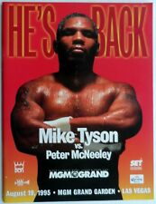 "MIKE TYSON vs PETER McNEELEY   11""X14""  BOXING POSTER"