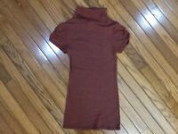 Michael Stars Original Tee Turtleneck Top Women's One Size Fits Most