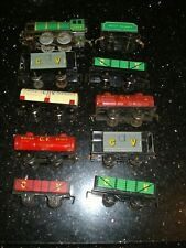 Chad Valley Vintage Lot Steam Train Loco & Freight CLOCKWORK TIN PLATE TOYS