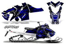 Polaris SKS Pro RMK Sled Decal Wrap Snowmobile Graphics Kit 06-10 NIGHTWOLF BLU
