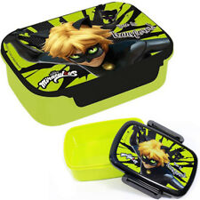 Miraculous LADYBUG - Cat Noir - Brotdose - Lunchbox - Sandwichbox - Grün
