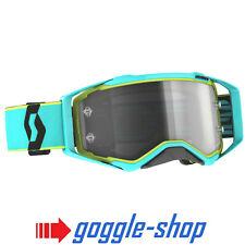 Maschera Uomo Scott Prospect Goggles Teal Blue Yellow Light Sensitive Cross MX