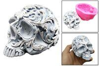 Silicone Skull Mould Decorative Ornaments Skeleton Mold Fondant Cake Resin Gyps