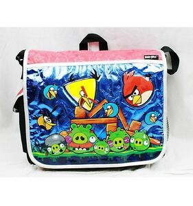 Angry Birds Large Messenger Diaper Computer Bag Licensed by Rovio- Red Bag