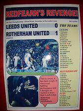 Leeds United 0 Rotherham United 1 - 2015 - souvenir print