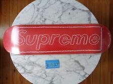 Supreme NYC Chalk logo by KAWS red Skateboard deck 2021 SS21