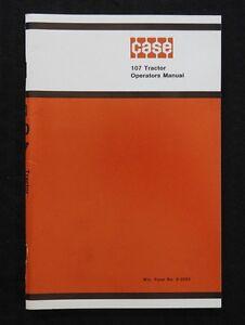 1969 1970 1971 1972 CASE 107 LAWN & GARDEN TRACTOR OPERATORS MANUAL MINT SHAPE