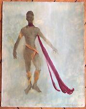 ANDROUTCHKA huile et encre sur papier signée danse décors parfums théâtre mode
