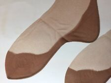 23a99e325 LUCKY CIRCLE BLACK SEAMED CUBAN HEEL Vintage Bisque Beige Nylon Stockings 9  X 33