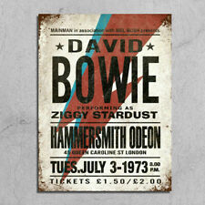 Metal Signs retro vintage style David Bowie concert poster image wall plaques