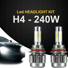2x 240W 9003 HB2 H4 24000LM LED Light Headlight Hi/Low White Beam Car Bulbs Whee